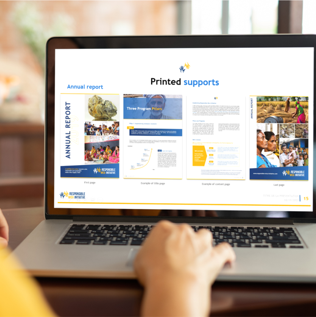 Identité et supports de com Responsible Mica Initiative
